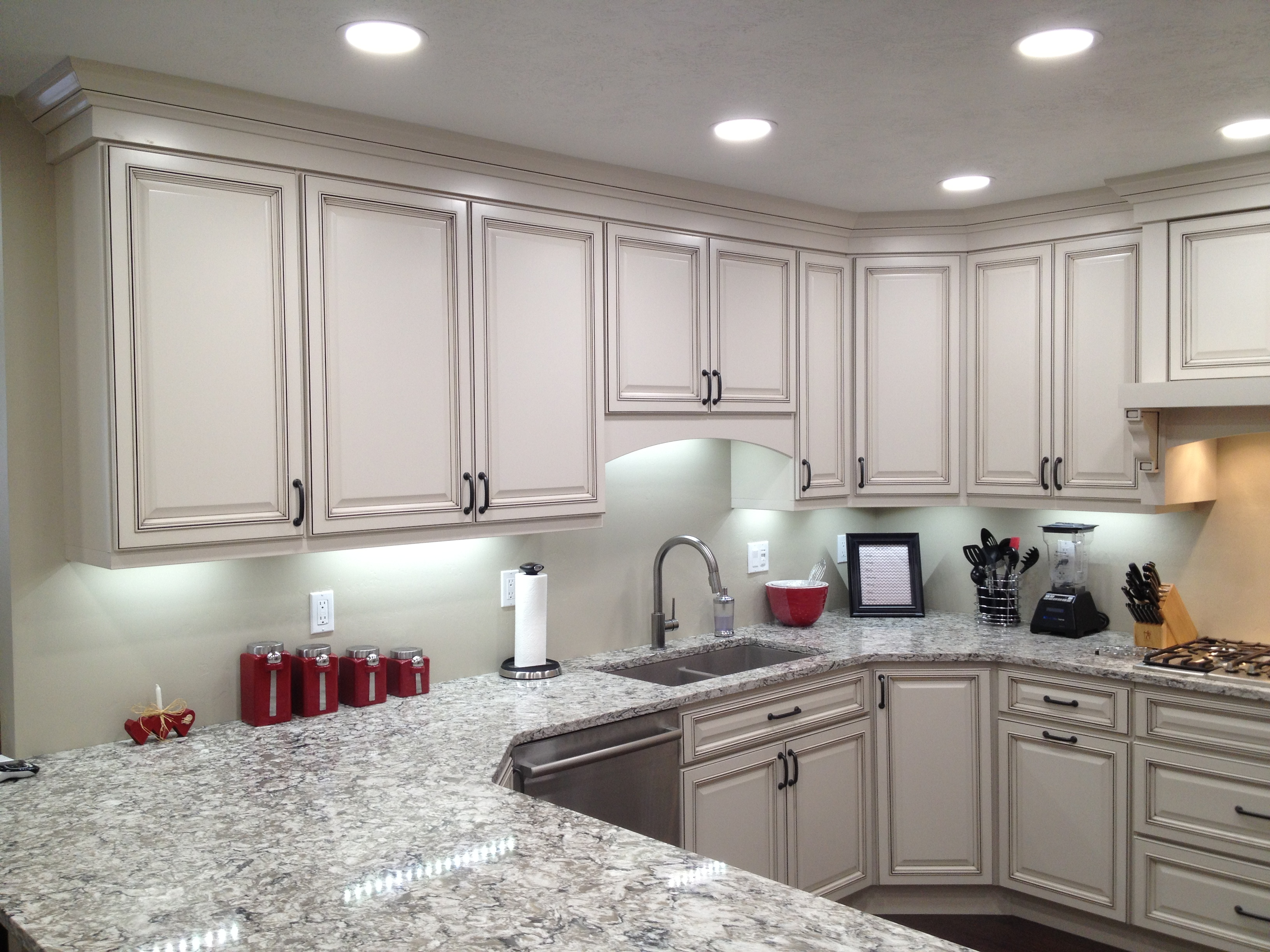 cabinet under led the lighting wire kitchen cabinets
